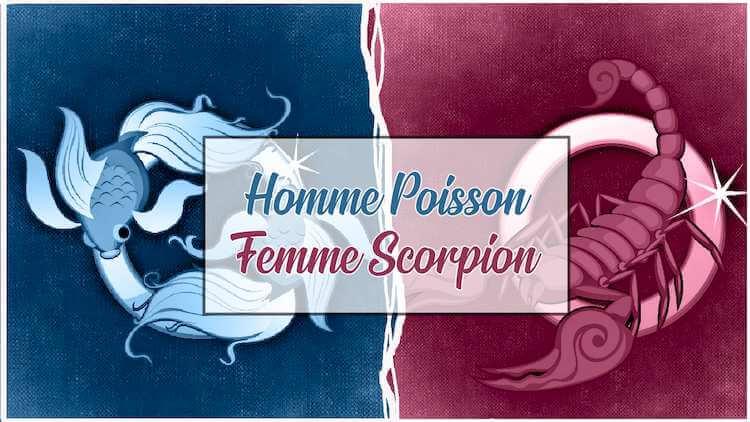 Homme poisson femme scorpion