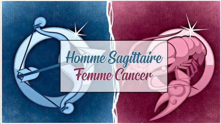 Homme sagittaire et femme cancer